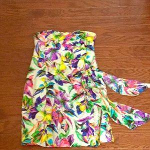 Nanette Lepore Tropical Strapless Dress
